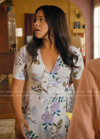 Jane's floral wrap dress on Jane the Virgin