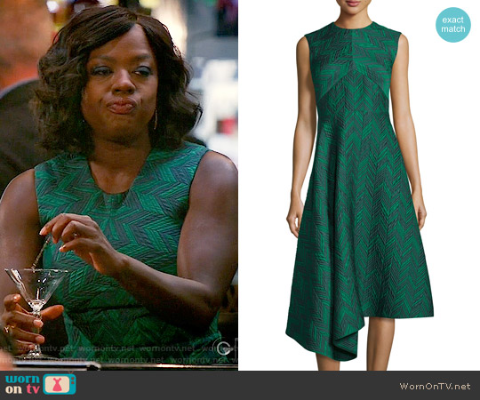 Jason Wu Sleeveless Herringbone Cocktail Dress worn by Viola Davis on HTGAWM
