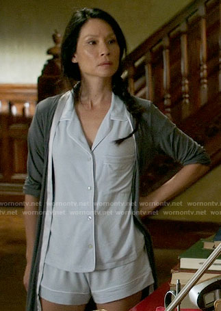 Joan's light blue short pajamas on Elementary