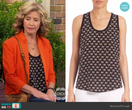 Joie Alicia Camel Print Tank worn by Vanessa Baxter (Nancy Travis) on Last Man Standing