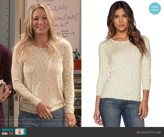Joie Feronia Sweater in Tumeric & Chai worn by Kaley Cuoco on The Big Bang Theory