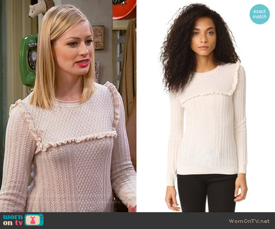 Joie Flor Sweater worn by Caroline Channing (Beth Behrs) on 2 Broke Girls
