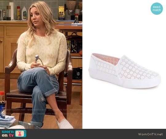 Keds 'Double Decker' Perforated Slip-On Sneaker worn by Penny on The Big Bang Theory