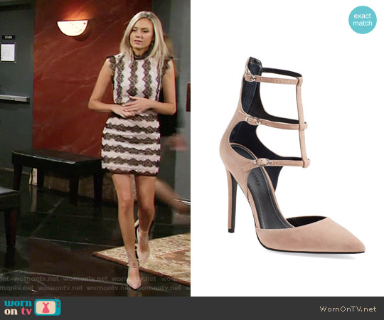 Kendall + Kylie 'Alisha' Tiered Ankle Strap Pump worn by Abby Newman on The Young & the Restless