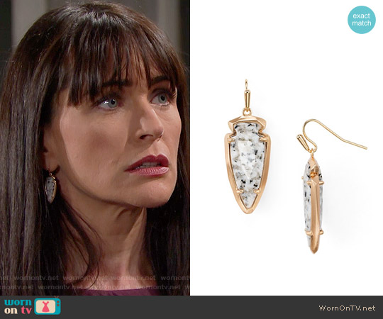 Kendra Scott 'Katelyn' Earrings in Granite worn by Quinn Fuller on The Bold & the Beautiful