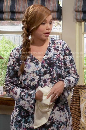 Kristin's floral long sleeved dress on Last Man Standing