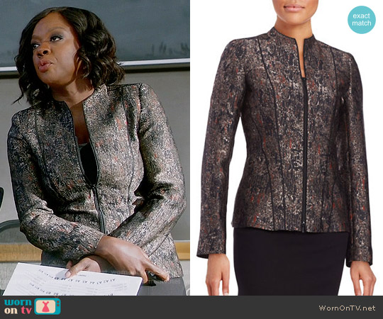 Lafayette 148 New York Eliza Jacket worn by Viola Davis on HTGAWM