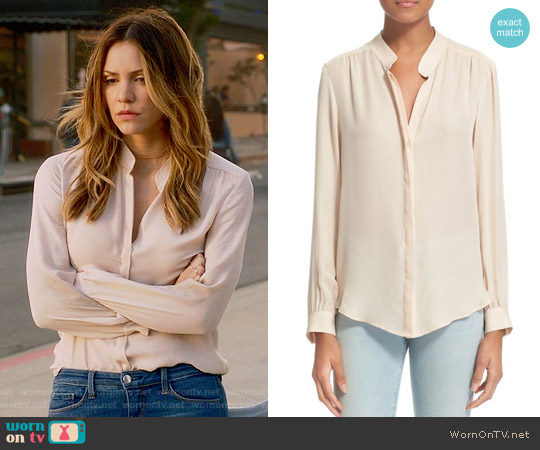 L'Agence Bianca Blouse in Quartz worn by Katharine McPhee on Scorpion