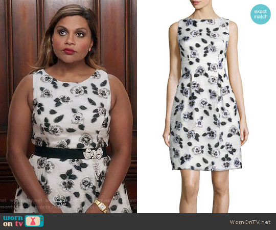 Lela Rose Betsy Dress worn by Mindy Kaling on The Mindy Project