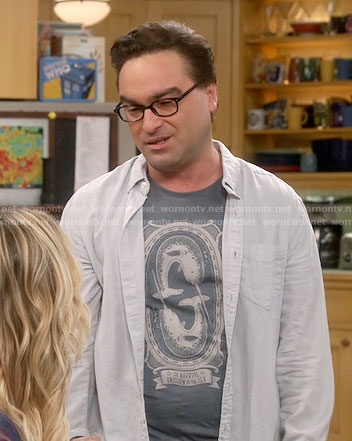 Leonard's narwhal t-shirt on The Big Bang Theory