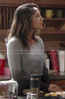 Lily's ombre mesh sweater on The Young and the Restless