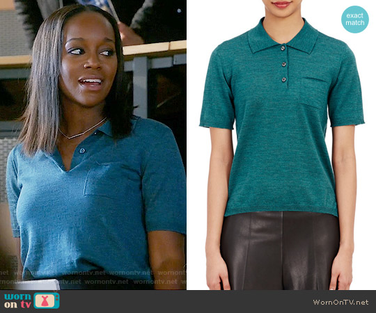 Maison Margiela Knit Polo Top worn by Aja Naomi King on HTGAWM