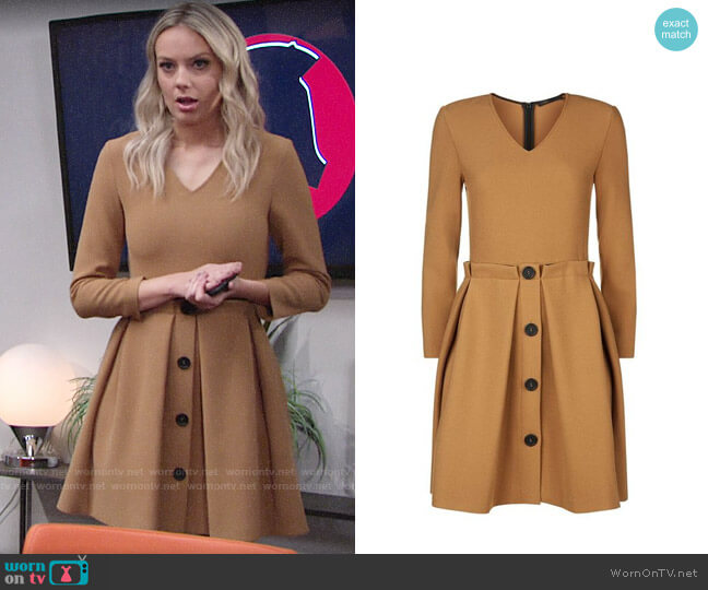 Maje Raeline Dress worn by Abby Newman (Melissa Ordway) on The Young & the Restless