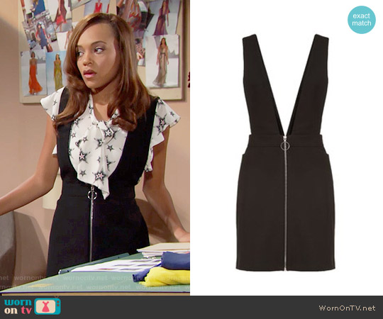 Maje Russel Pinafore Dress worn by Nicole Avant on The Bold & the Beautiful