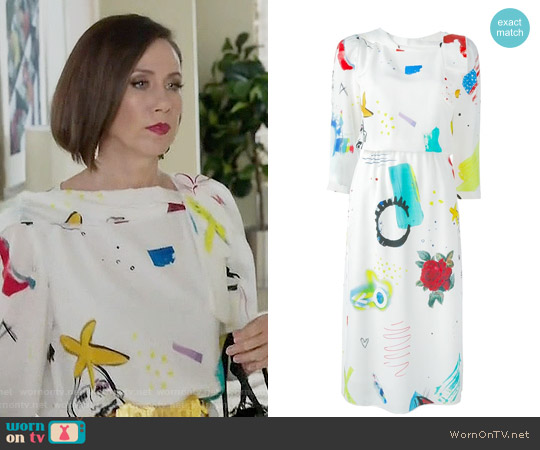 Marc Jacobs Collage Dress worn by Miriam Shor on Younger