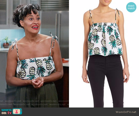 Milly Pineapple Tank Top worn by Tracee Ellis Ross on Blackish
