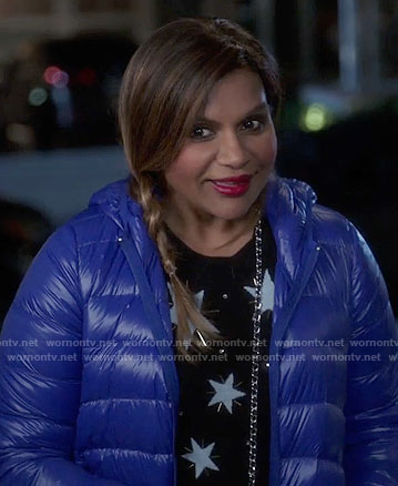 Mindy's beaded star print sweater on The Mindy Project