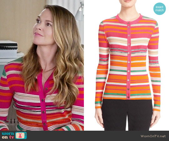 Missoni Stripe Cardigan worn by Sutton Foster on Younger