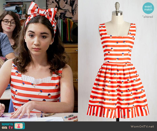 ModCloth To and Frozen Dress worn by Rowan Blanchard on Girl Meets World