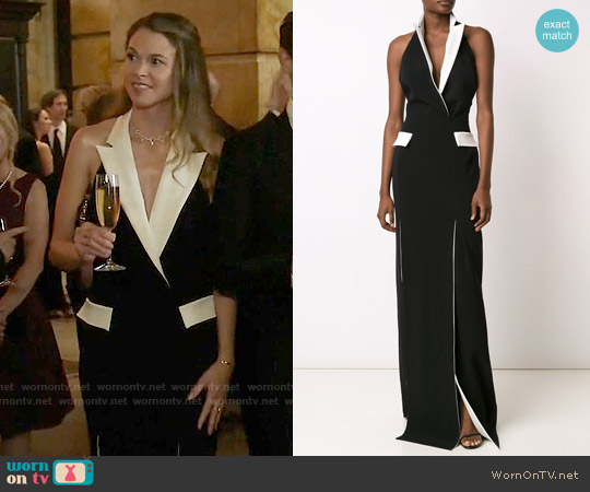 Mugler Tuxedo Style Evening Dress worn by Sutton Foster on Younger