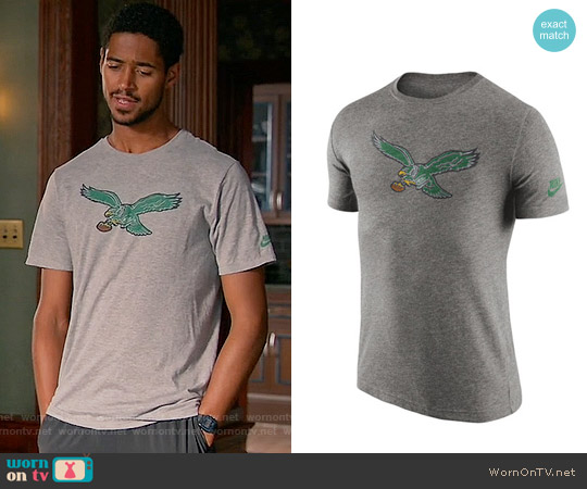 Nike Philadelphia Eagles Historic Logo T-Shirt worn by Alfred Enoch on HTGAWM