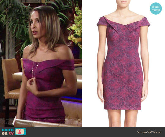 Opening Ceremony Floral Print Sheath Dress worn by Christel Khalil on The Young & the Restless