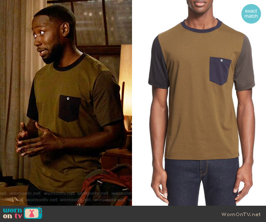 Paul Smith Colorblock Pocket T-Shirt worn by Winston Bishop (Lamorne Morris) on New Girl