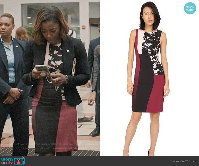 Prabal Gurung Printed Viscose Long Dress worn by Patina Miller on Madam Secretary