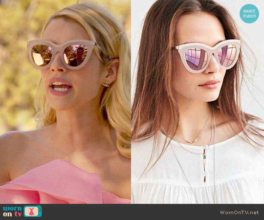 Quay Eclipse Sunglasses worn by Emma Roberts on Scream Queens