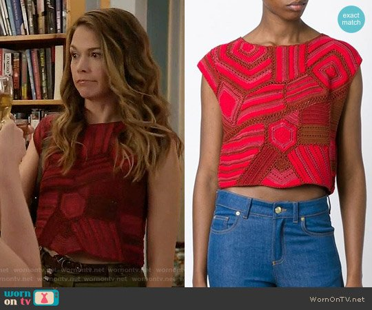 Rachel Comey Crochet Cropped Top worn by Sutton Foster on Younger