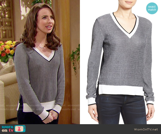 Rag & Bone 'Ainsley' V-Neck Sweater worn by Ashleigh Brewer on The Bold & the Beautiful