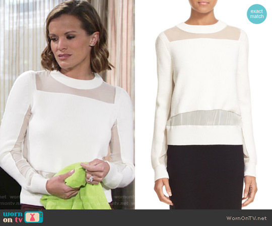 Rag & Bone Emery Pullover worn by Melissa Claire Egan on The Young & the Restless