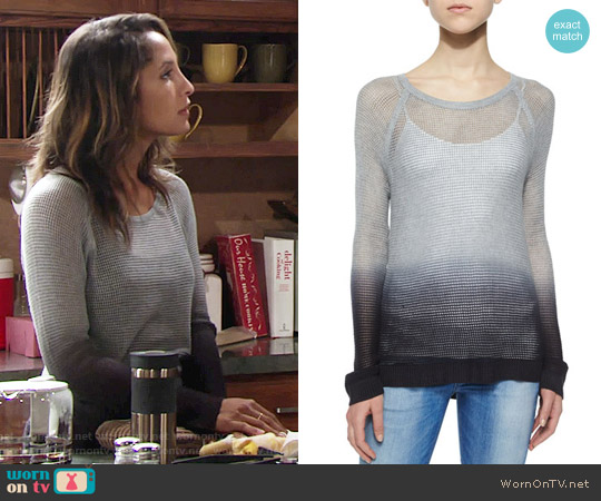 Rag & Bone Odette Ombre Pullover Sweater worn by Christel Khalil on The Young & the Restless