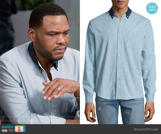Rag & Bone  Yokohama Long-Sleeve Chambray Shirt worn by Anthony Anderson on Blackish