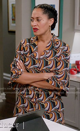 Rainbow's printed midi shirtdress on Black-ish