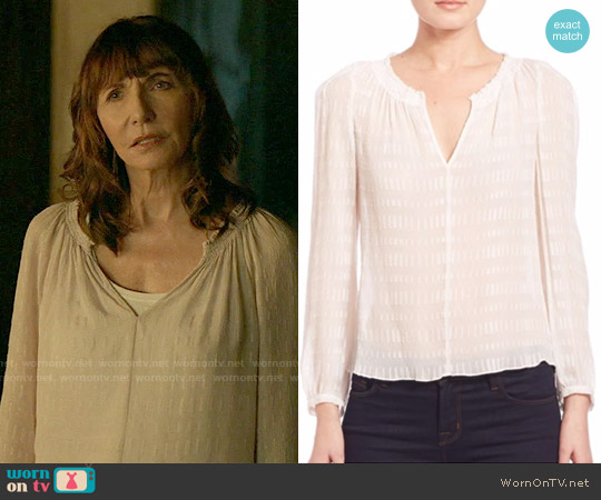 Rebecca Taylor Clip Bar Blouse worn by Mary Steenburgen on Last Man On Earth