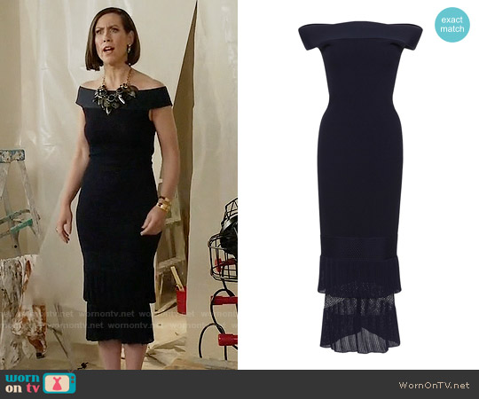 Roland Mouret Amery Dress worn by Miriam Shor on Younger
