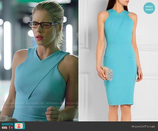 Roland Mouret Wilton Dress worn by Emily Bett Rickards on Arrow