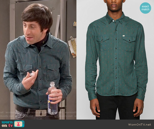 Urban Outfitters Salt Valley Dobby Western Shirt worn by Simon Helberg on The Big Bang Theory