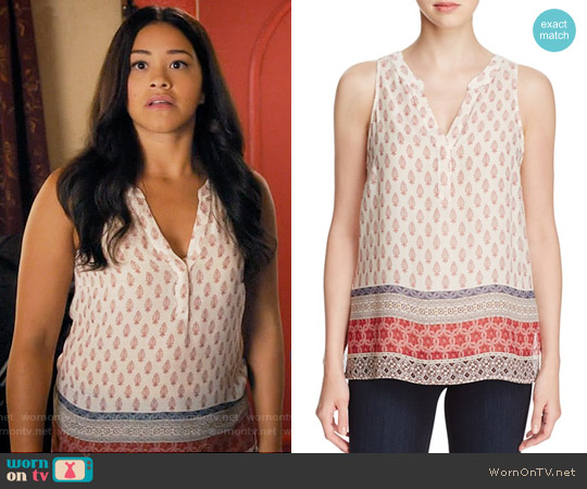 Sanctuary Mori Boho Print Sleeveless Top worn by Gina Rodriguez on Jane the Virgin