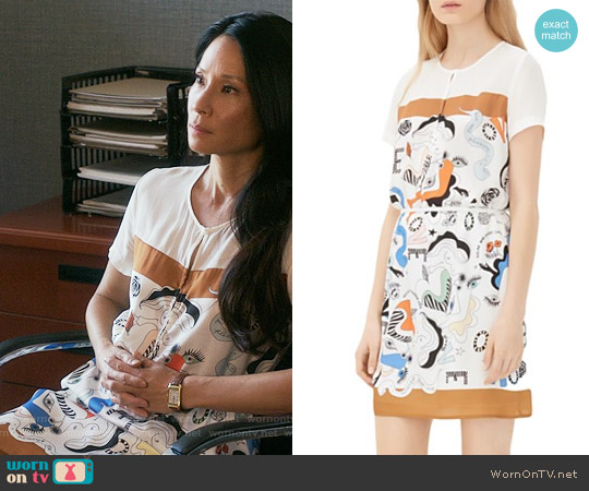 Sandro Rena Dress worn by Lucy Liu on Elementary