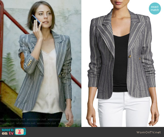 Smythe Duchess Blazer worn by Thea Queen (Willa Holland) on Arrow