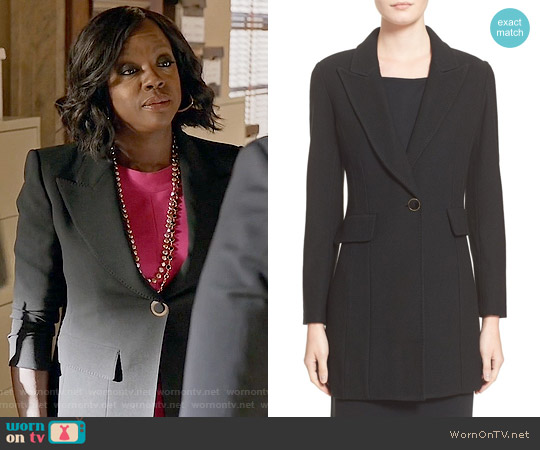 St John Collection Nouveau Bouclé Knit Topper worn by Viola Davis on HTGAWM
