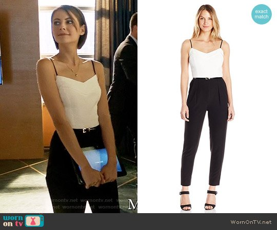 Ted Baker Cahron Jumpsuit worn by Thea Queen (Willa Holland) on Arrow