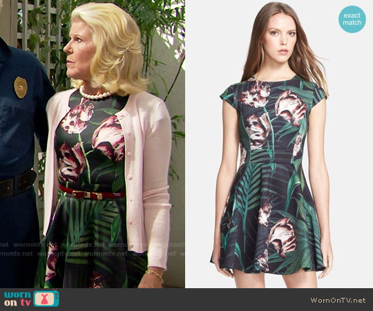 Ted Baker 'Florell' Palm Floral Print Dress worn by Alley Mills on The Bold & the Beautiful