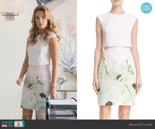 Ted Baker Sneha Pearly Petals Dress worn by Yael Grobglas on Jane the Virgin