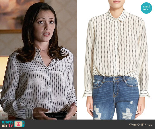 The Kooples 'Fantasy' Silk Shirt worn by Italia Ricci on Designated Survivor