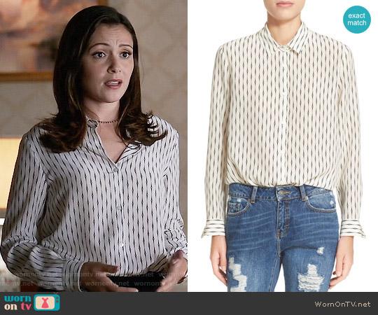 The Kooples 'Fantasy' Silk Shirt worn by Emily Rhodes (Italia Ricci) on Designated Survivor