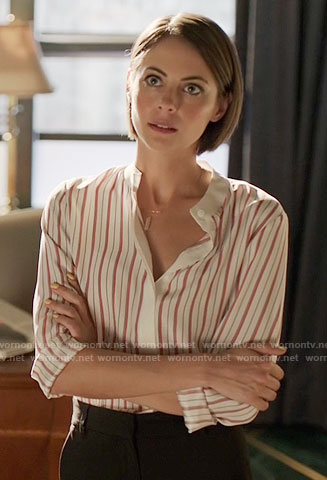 Thea's red striped shirt on Arrow