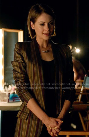 Thea's striped blazer on Arrow